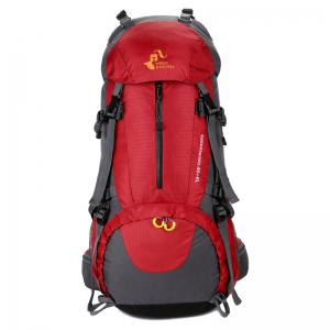 FreeKnight Nylon 50L Alpinisme Sac à dos avec Rain Cover - Rouge