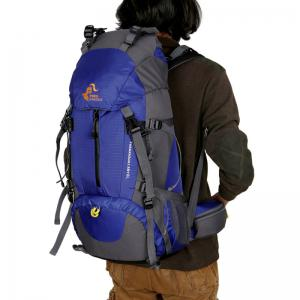 FreeKnight Nylon 50L Alpinisme Sac à dos avec Rain Cover - Bleu