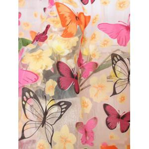 Butterfly Print Voile Curtain For Balcony Bedroom - COLORFUL W39 INCH* L79 INCH