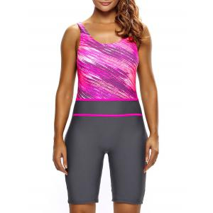 Ombre Sporty Shorts One Piece Swimsuit