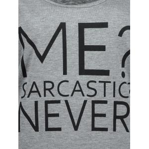 Casual Me Sarcastic Never Graphic Tank Top - GRAY S