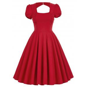 Backless Mini Pin Up Dress
