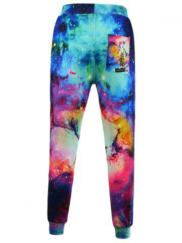 Chic Animal Print Galaxy Jogger Pants - S COLORMIX Mobile