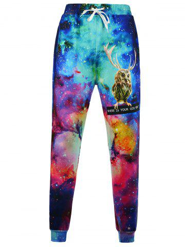 Chic Animal Print Galaxy Jogger Pants - M COLORMIX Mobile