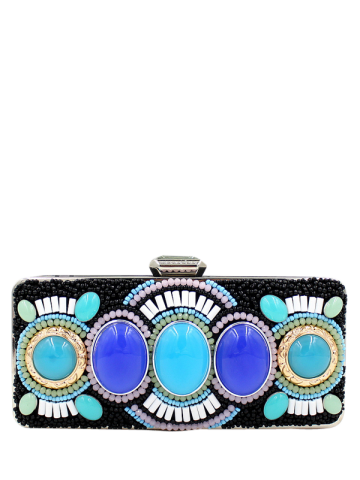 Online Faux Gems Beading Minaudiere
