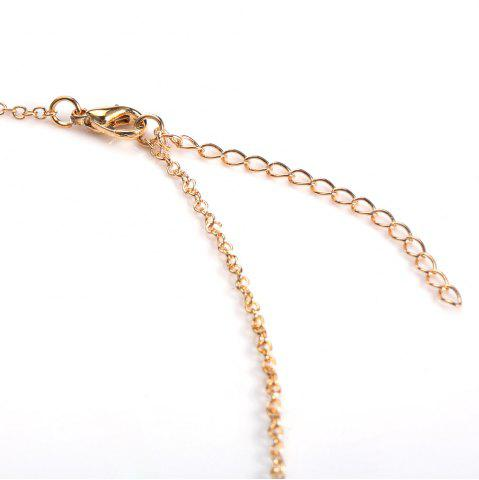 New Fake Pearl Pendant Necklace - GOLDEN  Mobile