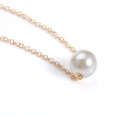 Latest Fake Pearl Pendant Necklace - GOLDEN  Mobile