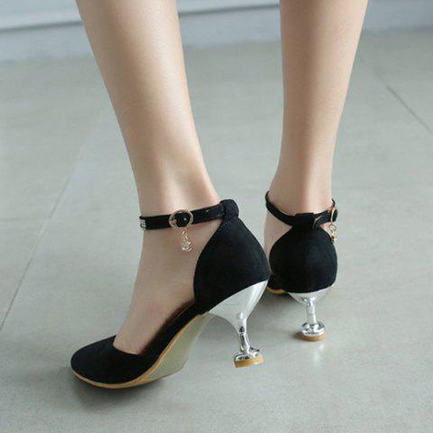 Outfit Stiletto Heel Two-Piece Pumps - 39 BLACK Mobile