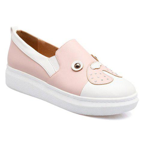 Trendy Studded Faux Leather Slip On Sneakers