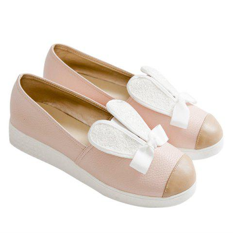 Store Bowknot Slip On Shoes - 37 PINK Mobile