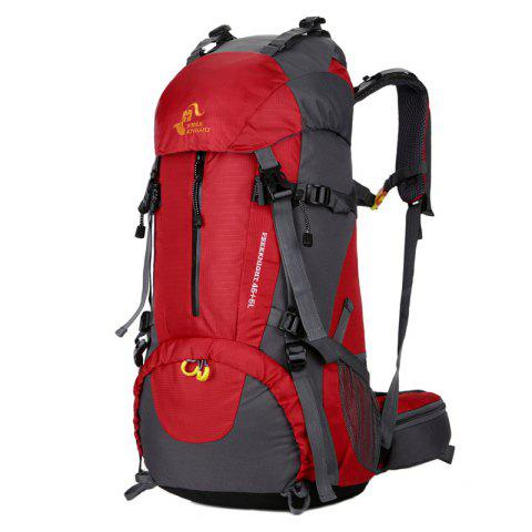 FreeKnight Nylon 50L Alpinisme Sac à dos avec Rain Cover Rouge