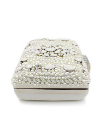 Online Metal Trimed Beaded Bags - WHITE  Mobile