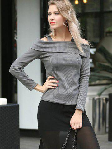 Shops Cold Shoulder Long Sleeves T-Shirt