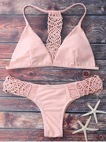 Fashion Cami Strappy Knitting Bikini Set