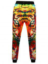 3D Tiger Printed Jogger Pants