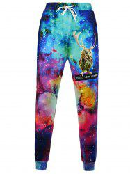 Animal Print Galaxy Jogger Pants - COLORMIX