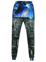 Wallpaper Galaxy 3D Print Jogger Pants