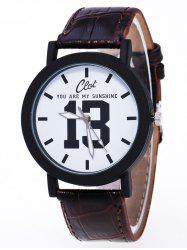 1314 Forever Love Faux Leather Quartz Watch