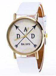 Faux Leather Arrow Analog Watch
