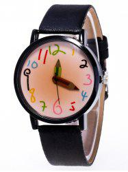 Cartoon Pencil Number Quartz Watch