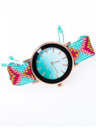 Beaded Braided Bracelet Watch