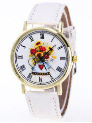 Flower Roman Numerals Quartz Watch