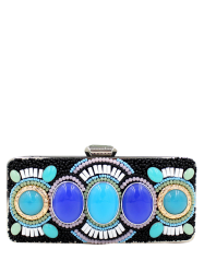 Faux Gems Beading Minaudiere -