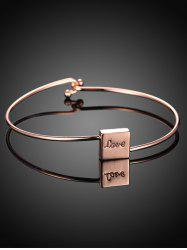 Plated Engraved Bracelet