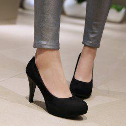 Stiletto Heel Platform Pointed Toe Pumps - BLACK
