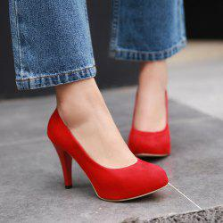 Stiletto Heel Platform Pointed Toe Pumps