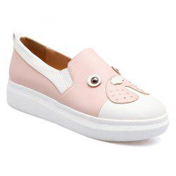 Studded Faux Leather Slip On Sneakers - PINK
