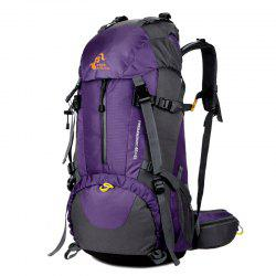 FreeKnight Nylon 50L Mountaineering Backpack with Rain Cover - PURPLE