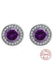 Faux Gem Rhinestone Stud Earrings