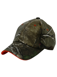 Biomimetic Jungle Printed Color Block Army Baseball Hat