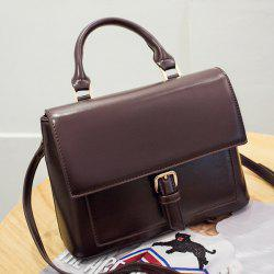 Flap Buckle Strap Satchel Bag