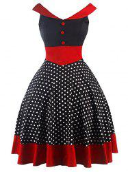 Vintage Polka Dot Mini Pin Up Dress