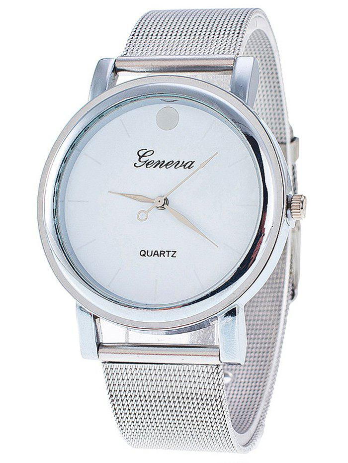 Unique Stainless Steel Mesh Band Wrist Watch