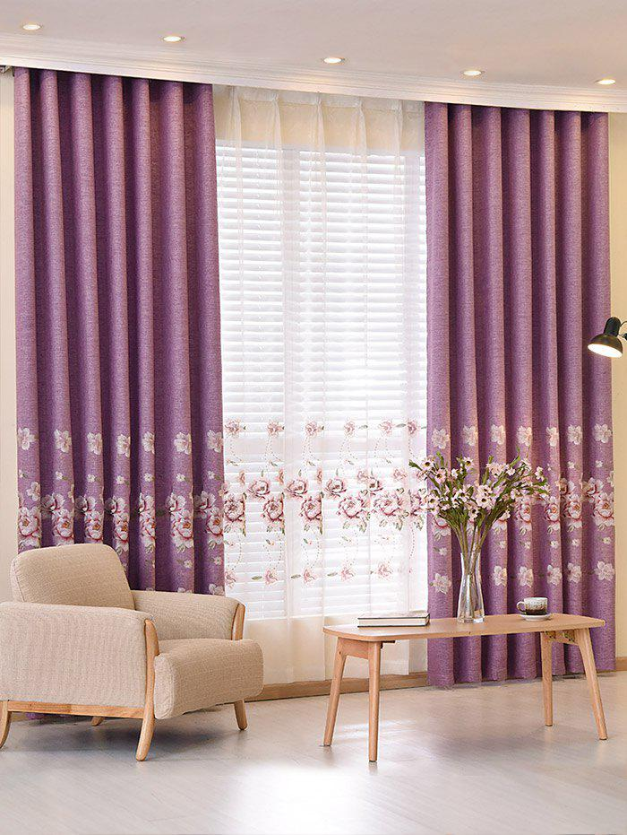 Jacquard Shading Living Room Blackout CurtainHOME<br><br>Size: 100*250CM; Color: VIOLET; Applicable Window Type: French Window; Function: Blackout; Installation Type: Ceiling Installation; Location: Window; Material: Polyester / Cotton; Opening and Closing Method: Left and Right Biparting Open; Pattern Type: Floral; Processing: Punching; Processing Accessories Cost: Excluded; Style: European and American Style; Type: Curtain; Use: Home,Hotel,Office; Weight: 0.3000kg; Package Contents: 1 x Blackout Curtain ?Without Tulle?;
