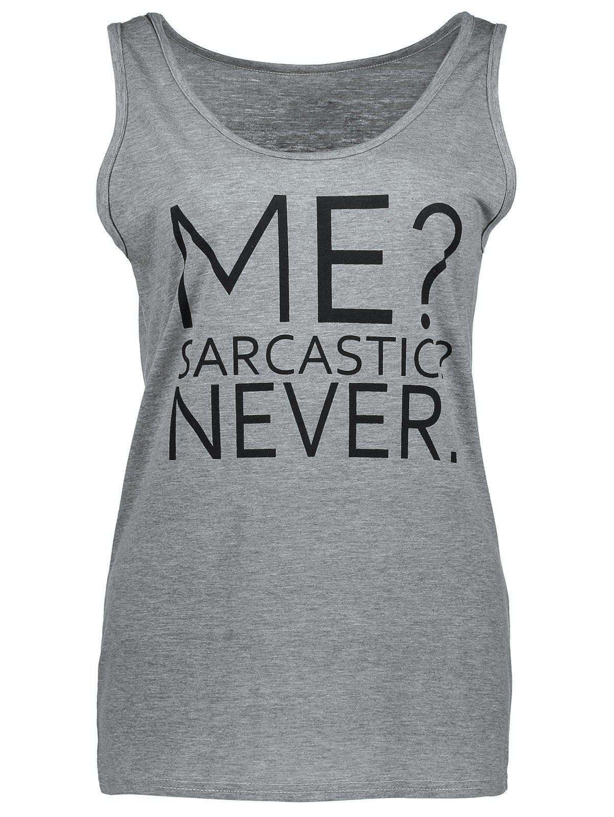 Outfit Casual Me Sarcastic Never Graphic Tank Top