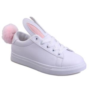 Rabbit Ears Color Block Athletic Shoes - SHALLOW PINK 37