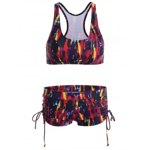 Graphic Racerback Bikini Swimsuit