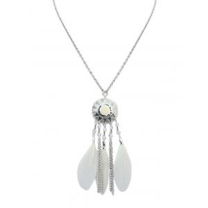 Feather Sun Fringed Necklace
