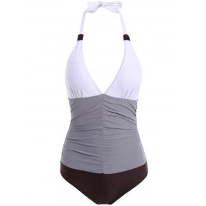 Plunging Neck Ruched Swimwear