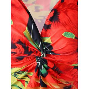 Plus Size Twist Front Floral Hawaiian Dress -