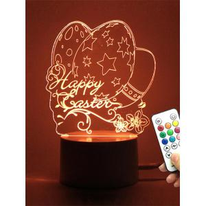 Easter Eggs LED Remote Control Color Change Night Light - Transparent - 180*200cm