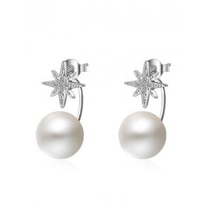 Faux Pearl Rhinestone Star Ear Jackets