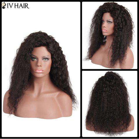 Siv Hair Long Curly Front Lace Human Hair Wig