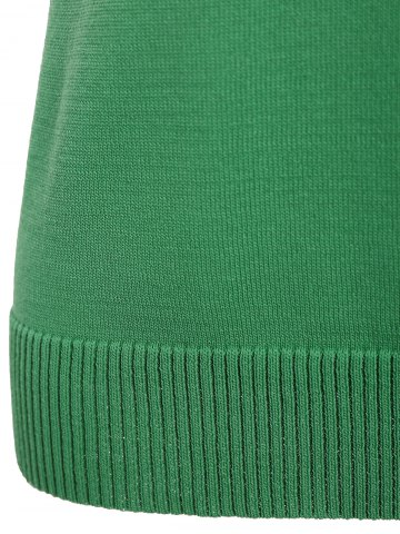 Hot V Neck Graphic Pattern Sleeveless Knitwear - XL LEAF GREEN Mobile