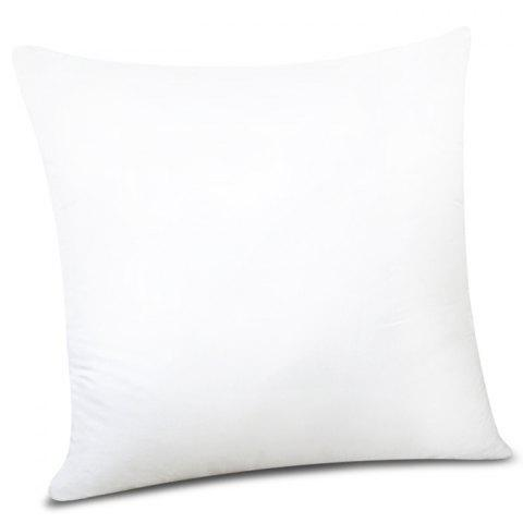 Cheap Fashion Solid Color Square Shape PP Pillow Inner (Without Pillowcase) WHITE
