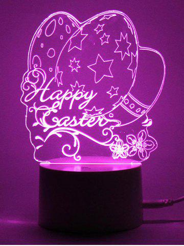 Cheap Easter Eggs LED Remote Control Color Change Night Light - TRANSPARENT  Mobile